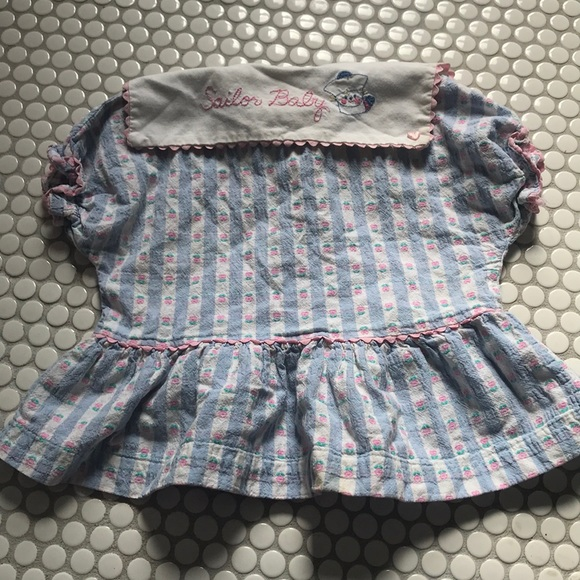 Vintage Sailor Baby Blouse 18mo